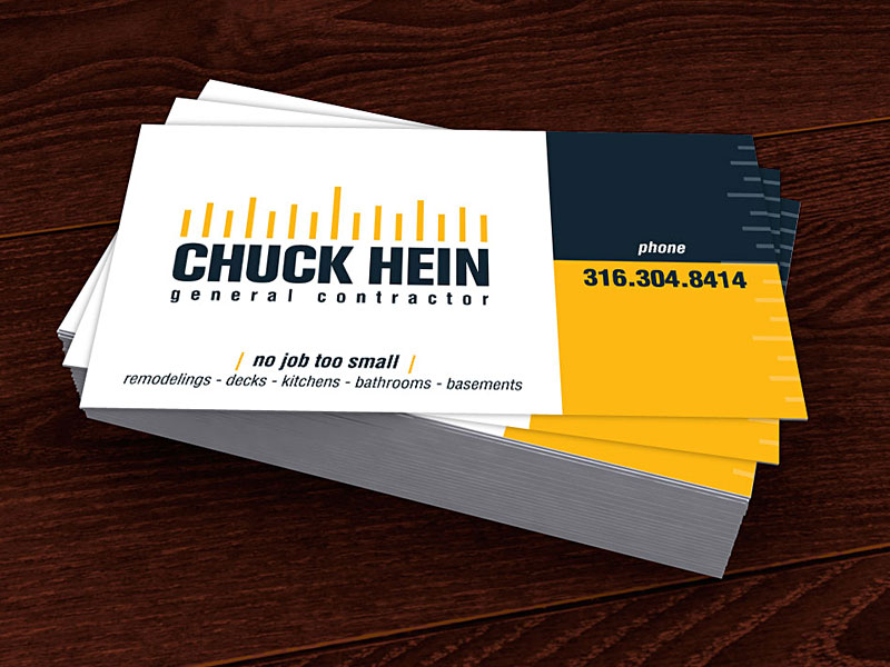 Wichita contractor business card design