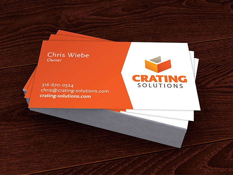 Crating Solutions business card layout