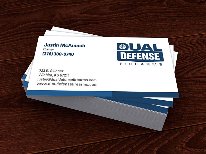 Dual defense firearms logo design michael mcclure dual defense firearms business cards colourmoves