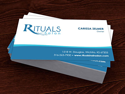 Business card design for Rituals Hair Salon