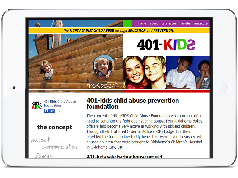 Web design for 401-Kids