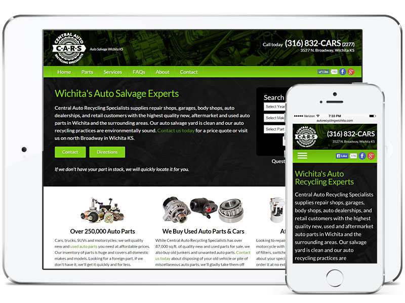 CARS website design