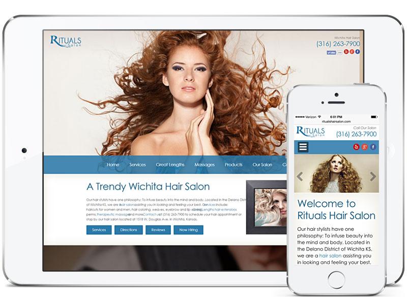 Web design for Rituals Hair Salon